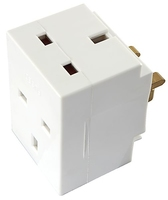 5688 13AMP WHITE 3-WAY ADAPTOR