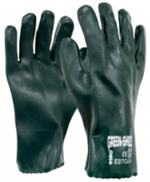 Green Shield PVC Double Dipped 27cm Gauntlet Sandy Finish Gloves Carton 120