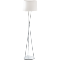 Belora Floor Lamp Brushed Chrome Base + Cream Shade | LV1902.0011