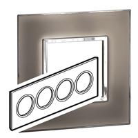 Arteor (British Standard) Plate 8 Module Round Mirror Taupe | LV0501.0347