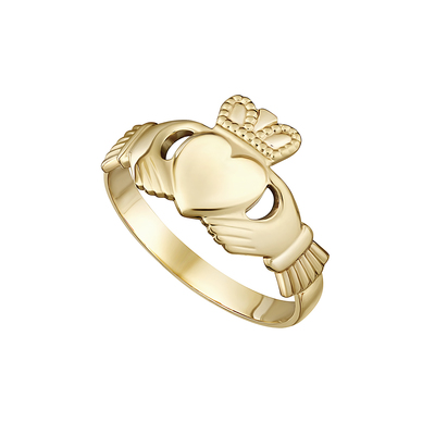 14K MAIDS CLADDAGH RING
