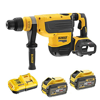 Dewalt DCH733X2 54V XR 48mm Flexvolt SDS Max Drill 355rpm 2705bpm 13.3 Joules C/W 2 x 9.0Ah Li-ion Flexvolt Batteries & Fast Charger In Box (DeWALT Special Discount Price)