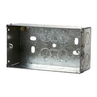 2 Gang 47mm Metal Socket Box