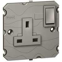 Arteor 5Amp Socket (Switched) - Magnesium  | LV0501.0054