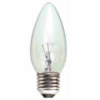 35MM TOUGH LAMP CANDLE  240/50V 40WATT ES/E27 CLEAR