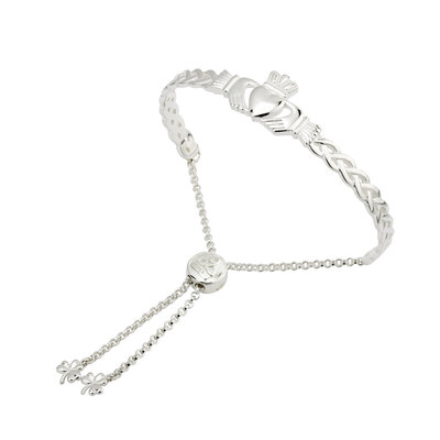 CELTIC CLADDAGH DRAW STRING BANGLE (BOXED)