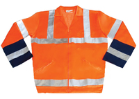 REDBACK P/C Hi-Visibility Jacket Orange/Navy