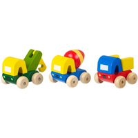 Construction Trucks Set - a pick up truck, a cement mixer and a dumper truck