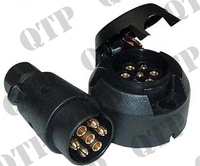 Trailer Socket & Plug 7 Pole
