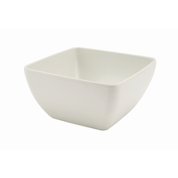 Melamine White Curved Sq Bowl 125mm