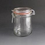 750ml Clip top glass storage jar.