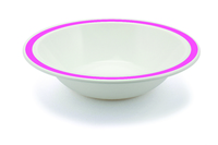 New Duo Dark Pink - 17.3cm Rimmed Bowl