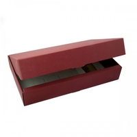 BOX GIFT/WINE 6B 340X560X90MM BURGUNDY