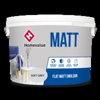 Homevalue Matt Emulsion Paint 10L Grey