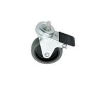 Euromet 02020 | Wheel, rubber, ø 75 mm lockable M10x15