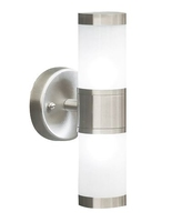 Kamus Double Wall Bracket IP44, Frosted Glass Stainless Steel    LV1802.0164