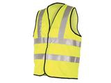 LARGE HI VIS 2 BAND 2 BRACE YELLOW VEST