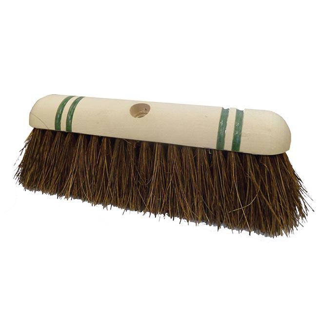 12'' Nat Bass Broom Head Green Stripe Standard Thread RHB28ST