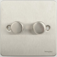 Flat Plate Stainless Steel DIMMER  2Gang 2way| LV0701.0102