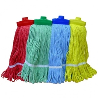 400gm Thread Head Mop Looped Complete with Wooden Handle