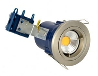 Fixed 240V GU10 Fire Rated Downlight Satin Chrome