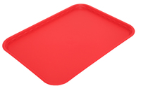 Flat Tray Polypropylene Red 410 x 300mm