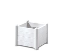 Italia Square Flower Box col. White