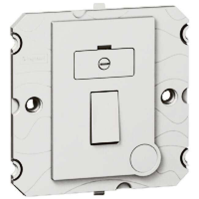 Arteor 13Amp Fused Spur (Without Neon) - White    LV0501.0013