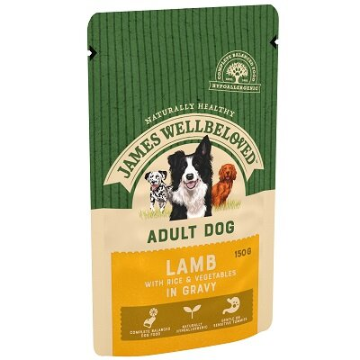 James Wellbeloved Adult Dog Lamb Pouches 10 x 150g