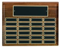 24 Plate Solid Walnut Perpetual Plaque
