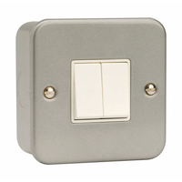 Click CL012 2G 10A 2 Way Switched Metalclad