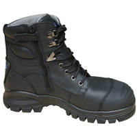 Blundstone 997 Nitrile Sole 300°C Lace Up/Zip Safety Boot&Scuff Cap Black