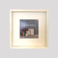 Memories Box Frame White 34.5 x 34.5cm