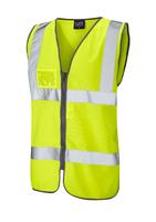 Leo RUMSAM ISO 20471 Cl 2 Waistcoat Zip & ID Pocket