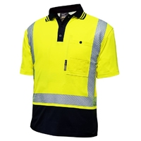 Techni Vision Hi Vis Day/Night Cotton Back Segmented Short Sleeve Polo
