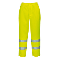 Portwest Hi-Visibility Poly-Cotton Trouser Hi-Vis Yellow
