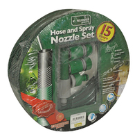 Kingfisher 15m Hose and Spray Nozzle Set - 415SNS (415SNS)