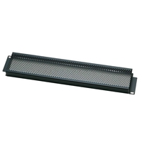 Euromet 02015 | Security rack cover, 2U, punched, Black