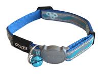 Rogz Nightcat Cat Collar - Blue Floral x 1