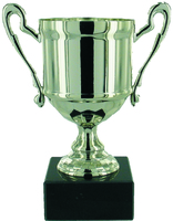 11.5cm Cast Metal Cup - Silver