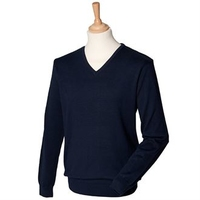 Henbury 12 Gague V-Neck Jumper