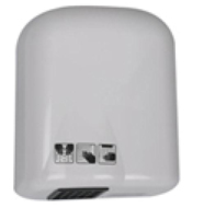 WHITE AUTOMATIC 1600W HAND DRYER