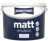 JOHNSTONES MATT EMULSION BRILLIANT WHITE 10 LTR
