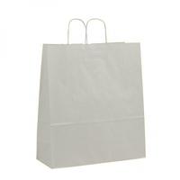 Twist Handle Carrier Bag White 400mm x 160mm x 450mm