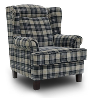 Manor Wing Chair - Grey