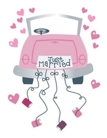 Just Married Medium Essential Craft Sticker.