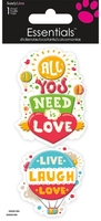 Inspiration Love Large Essential Craft Sticker. (Priced in singles, order in multiples of 6)