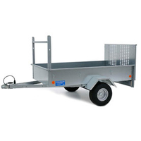 BRONSIS DM7X4R Domestic Trailer with Ramp & Wide Wheels