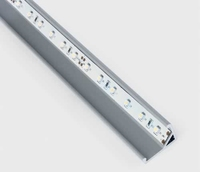 2m Grey Triangle Profile for LED Strip | LV1202.0160