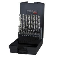 Terrax Twist Drill Set HSS Ground 1-10mm